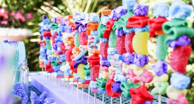 Candy Kabobs from a Little Mermaid Themed Birthday Party via Kara's Party Ideas | KarasPartyIdeas.com (2)