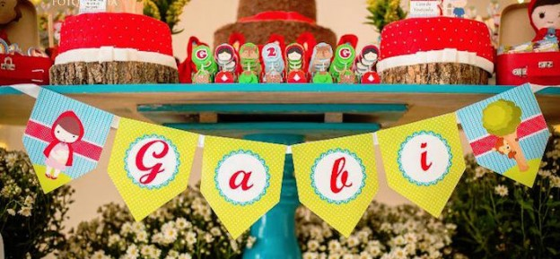 Banner from a Little Red Riding Hood Birthday Party via Kara's Party Ideas! KarasPartyIdeas.com (1)