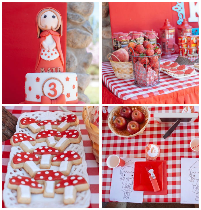 Kara's Party Ideas Little Red Riding Hood Picnic Party Via