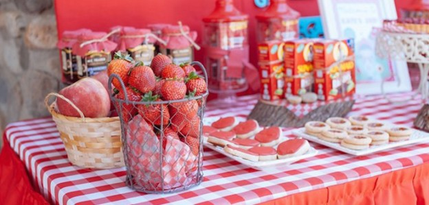 Dessert Table from a Little Red Riding Hood Picnic Party via Kara's Party Ideas | KarasPartyIdeas.com (1)