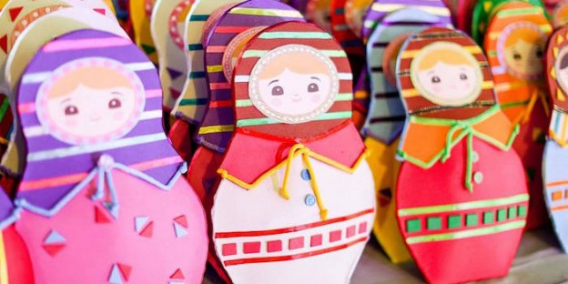Matryoshka Doll Favor Pouches from a Matryoshka Doll Birthday Party via Kara's Party Ideas | KarasPartyIdeas.com (2)