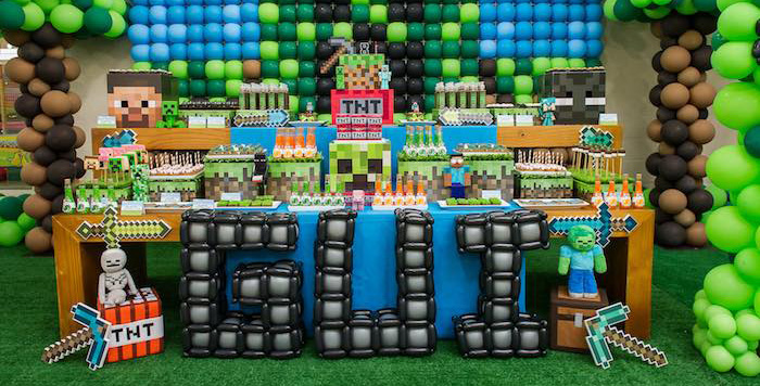 Kara S Party Ideas Minecraft Balloon Party Kara S Party