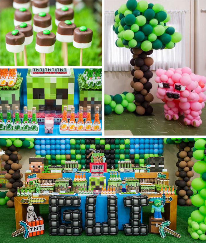 Kara's Party Ideas Minecraft Birthday Party via Kara's ...