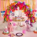 Dining Table from a My Little Pony Birthday Party via Kara's Party Ideas | KarasPartyIdeas.com (2)