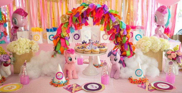 Dining Table from a My Little Pony Birthday Party via Kara's Party Ideas | KarasPartyIdeas.com (2)