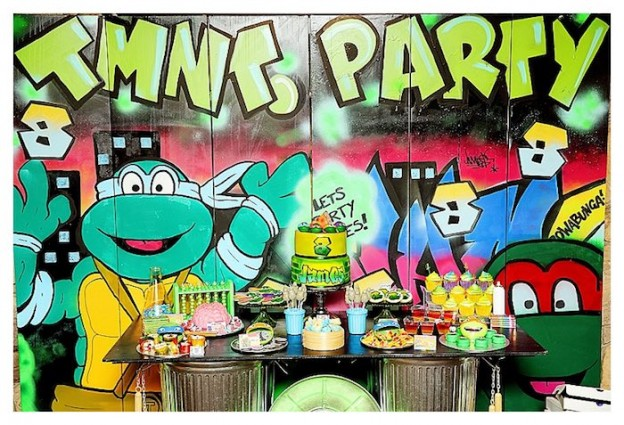 Ninja Turtles Graffiti Party via Kara's Party Ideas | The Place for ALL Things Party! KarasPartyIdeas.com (1)