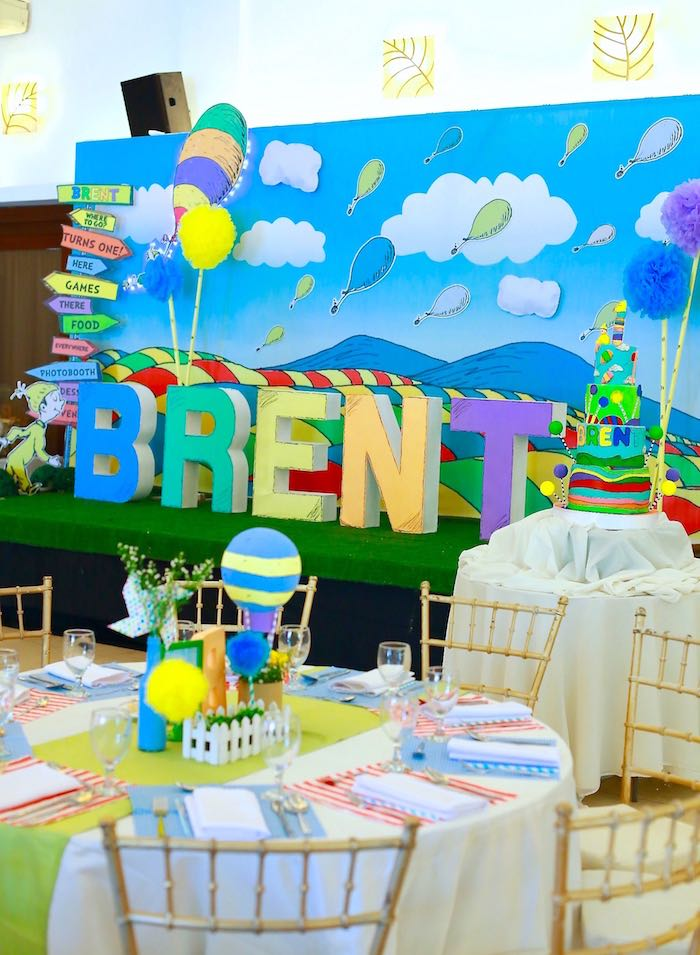 Kara's Party Ideas Dining Tables + Backdrop from an Oh the ...