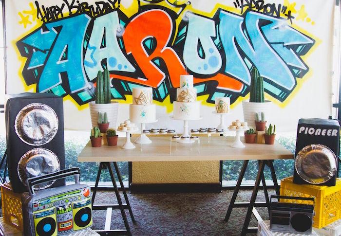 Kara S Party Ideas Old Skool Hip Hop Birthday Party