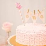 Ruffle Cake from a Pink + Gold Bohemian Dohl Birthday Party via Kara's Party Ideas | KarasPartyIdeas.com (1)