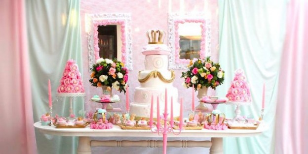 Main Table from a Royal Princess Birthday Party via Kara's Party Ideas KarasPartyIdeas.com (2)