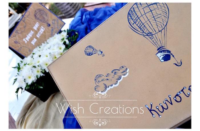 Kara S Party Ideas Rustic Hot Air Balloon Baptism And