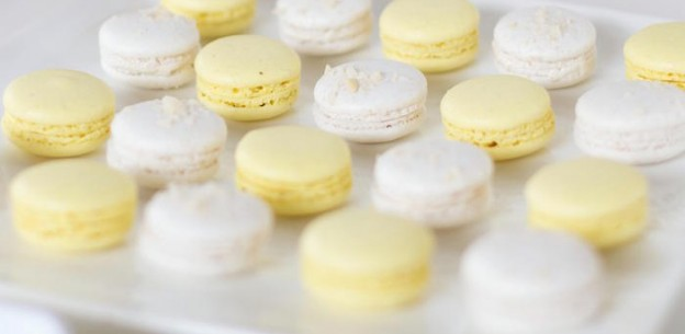 Macarons from a Sunshine Baby Shower via Kara's Party Ideas | KarasPartyIdeas.com (1)