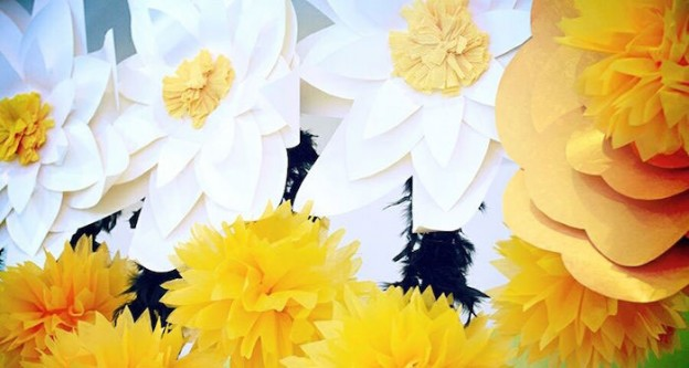 Backdrop from a Sunshine Birthday Party via Kara's Party Ideas | KarasPartyIdeas.com (2)