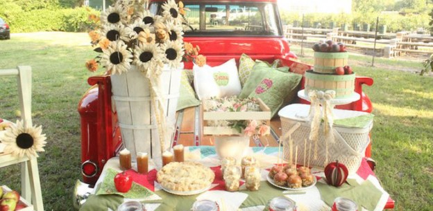 Tailgate Picnic from a Tailgate Apple Picnic + Tailgating Party via Kara's Party Ideas | KarasPartyIdeas.com (1)