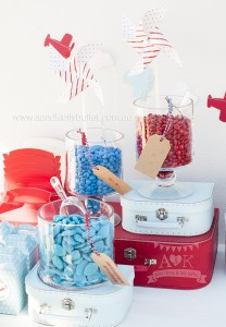 Sweet Bar from an Up, Up & Away 1st Birthday Party via Kara's Party Ideas KarasPartyIdeas.com (16)