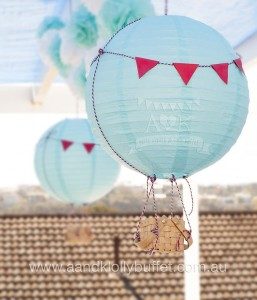 Hot Air Balloon Decor from an Up, Up & Away 1st Birthday Party via Kara's Party Ideas KarasPartyIdeas.com (15)