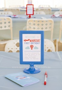 Sign Placed in a 2-Sided Frame from an Up, Up & Away 1st Birthday Party via Kara's Party Ideas KarasPartyIdeas.com (14)
