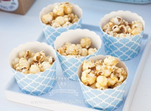 Popcorn Cups from an Up, Up & Away 1st Birthday Party via Kara's Party Ideas KarasPartyIdeas.com (10)