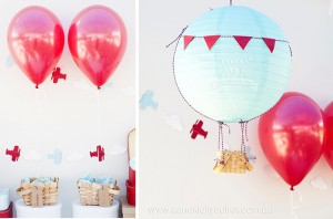 Decor + Paper Lantern Hot Air Balloon Decoration from an Up, Up & Away 1st Birthday Party via Kara's Party Ideas KarasPartyIdeas.com (5)