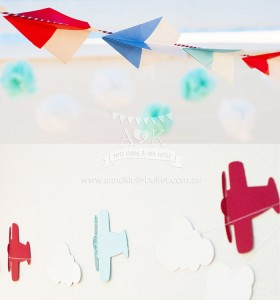 Paper Airplanes from an Up, Up & Away 1st Birthday Party via Kara's Party Ideas KarasPartyIdeas.com (4)