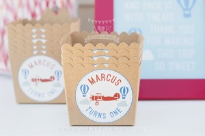 Favor Boxes from an Up, Up & Away 1st Birthday Party via Kara's Party Ideas KarasPartyIdeas.com (24)