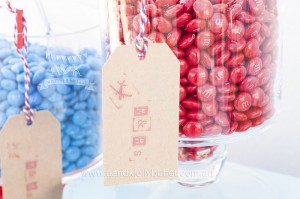 Vintage Candy Tag from an Up, Up & Away 1st Birthday Party via Kara's Party Ideas KarasPartyIdeas.com (19)