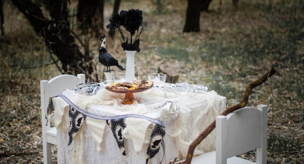 Tea Table from a Witches Tea Party via Kara's Party Ideas KarasPartyIdeas.com (2)
