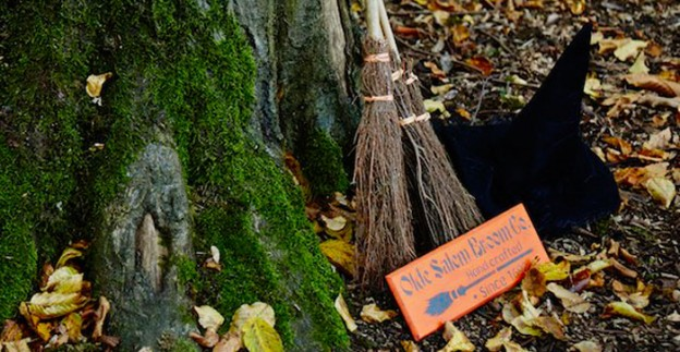 Decor from a Woodland Halloween Party via Kara's Party Ideas | KarasPartyIdeas.com (3)