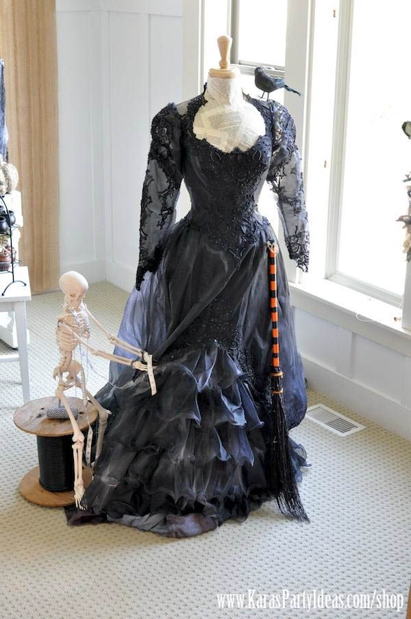 Pinterest Link to DIY Witch's Dress | Kara's Party Ideas