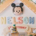 Backdrop from a Baby Mickey Themed Birthday Party via Kara's Party Ideas | KarasPartyIdeas.com (2)