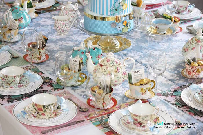 kara's party ideas tea tablescape from a baby shower tea party via, Baby shower invitation