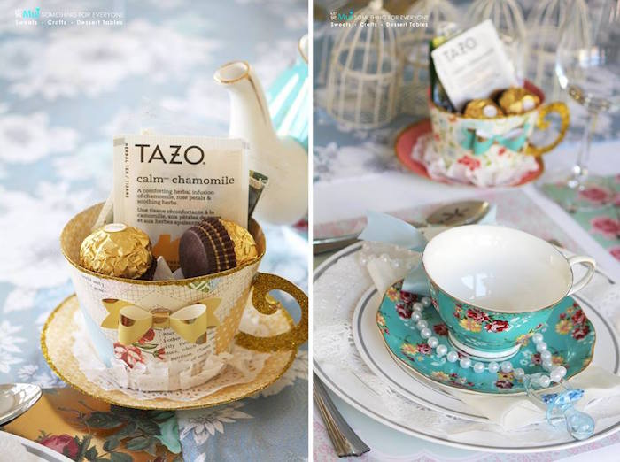 Exceptional Paper Tea Cup Favors + Tea Cup And Saucer From A Baby Shower Tea Party Via
