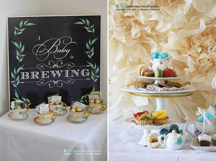 kara's party ideas paper tea cup favors  sweets from a baby, Baby shower invitation