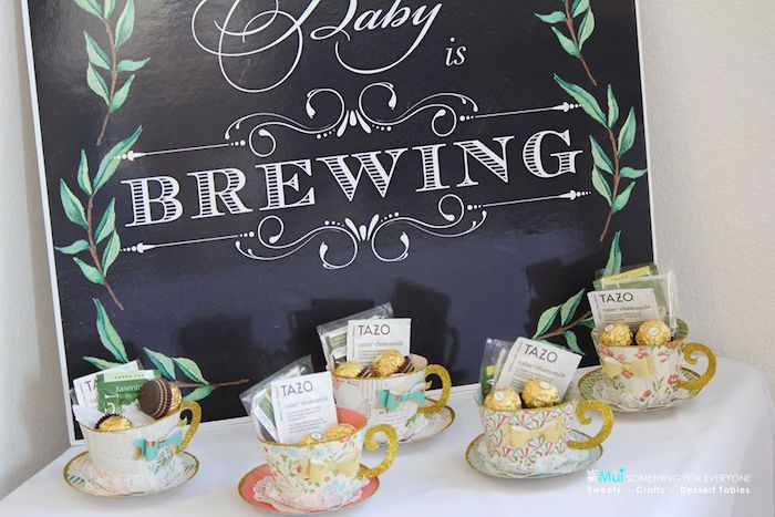 paper tea cup favors from a baby shower tea party via karau0027s party ideas