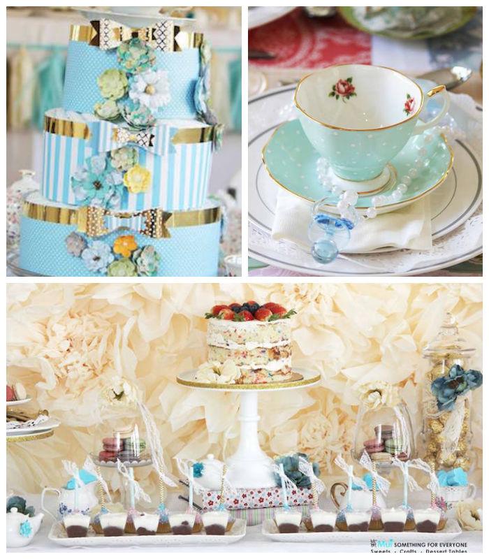 kara's party ideas baby shower tea party via kara's party ideas, Baby shower invitation