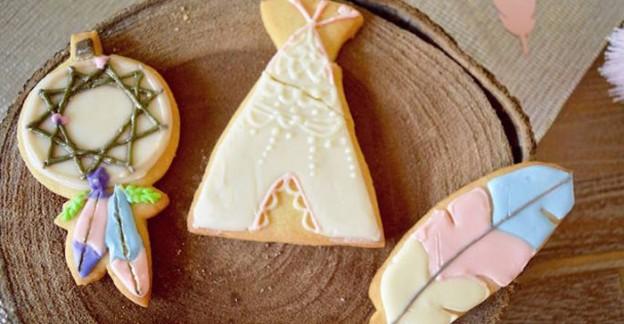 Sugar Cookies from a Boho Baby Shower via Kara's Party Ideas! KarasPartyIdeas.com (2)