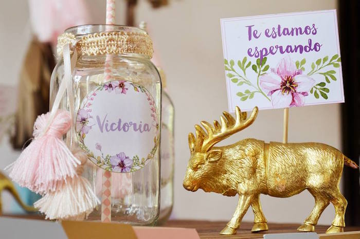Drink Jar Animal Label Holder Tag From A Boho Baby Shower Via Karas Party