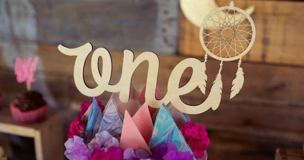 Cake Topper from a Boho Teepee 1st Birthday Party via Kara's Party Ideas | KarasPartyIdeas.com (2)