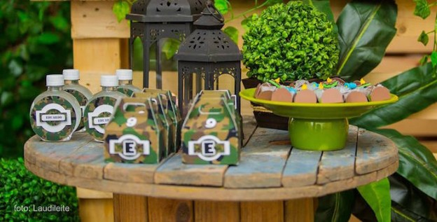 Favors from a Camouflage Camping Themed Birthday Party via Kara's Party Ideas | KarasPartyIdeas.com (1)