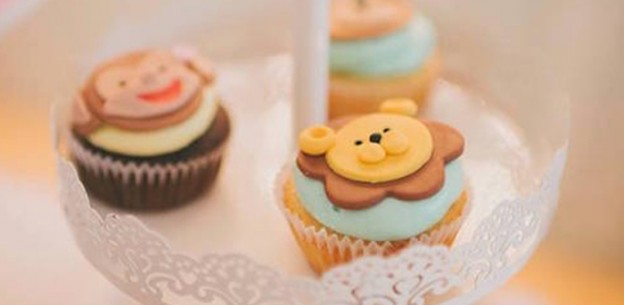 Cupcakes from a Circus Animal Birthday Party via Kara's Party Ideas | KarasPartyIdeas.com (2)