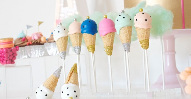 Ice Cream Cone Cake Pops from a Circus Birthday Party via Kara's Party Ideas KarasPartyIdeas.com (2)