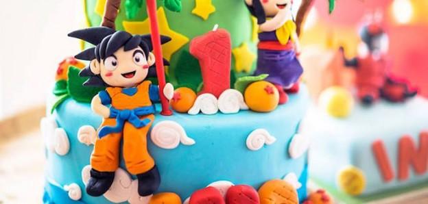 Shot of a Cake from a Dragon Ball Themed Birthday Party via Kara's Party Ideas | KarasPartyIdeas.com (1)