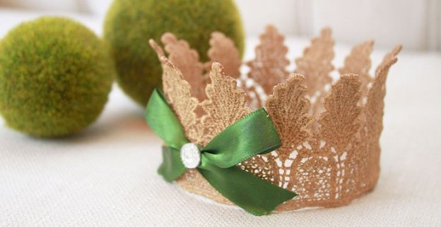 Crown from an Enchanted Forest Woodland Birthday Party via Kara's Party Ideas KarasPartyIdeas.com (1)