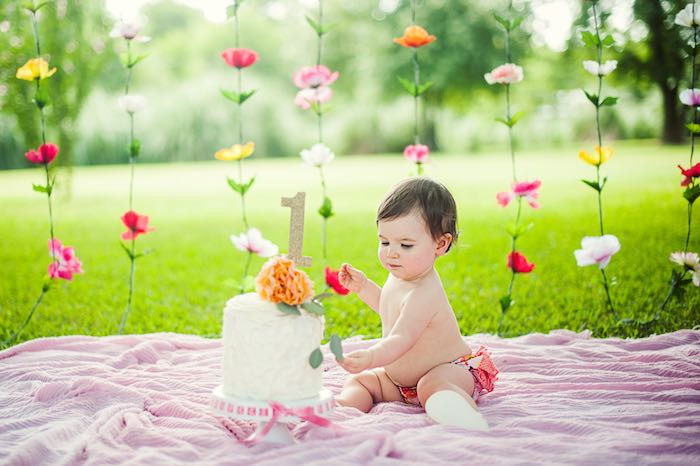 Kara S Party Ideas Smash Cake Time From A First Birthday