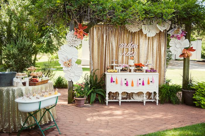 Kara 39 S Party Ideas Food Sweet Table From A First Birthday Garden Party Via Kara 39 S Party Ideas