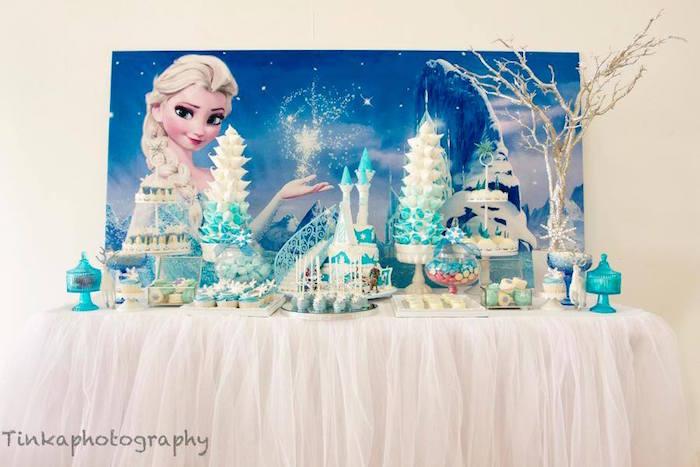 Sweet Table From A Frozen Birthday Party Via Karas Ideas