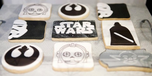 Cookies from a Geo, Copper & Monochromatic Star Wars Party via Kara's Party Ideas | KarasPartyIdeas.com (3)