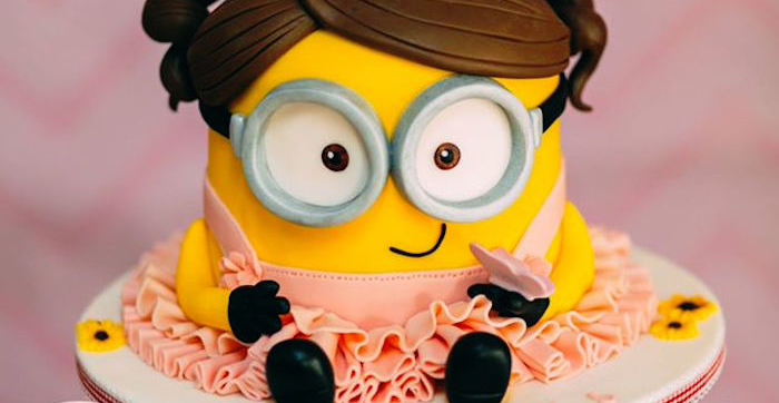 Kara S Party Ideas Girly Minion Birthday Party Kara S