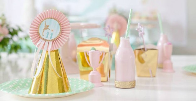 Dining Tablescape from a Gymnastics Themed Birthday Party via Kara's Party Ideas KarasPartyIdeas.com (1)