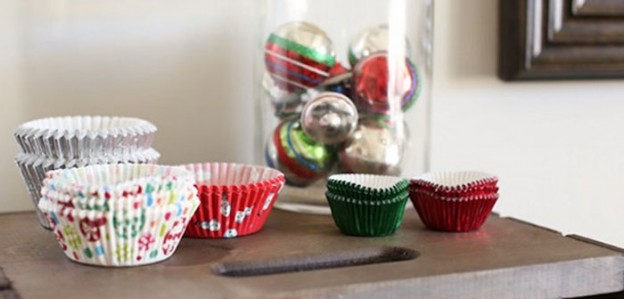 Treat Liners from a Holiday Cookie Exchange Party via Kara's Party Ideas | KarasPartyIdeas.com (1)